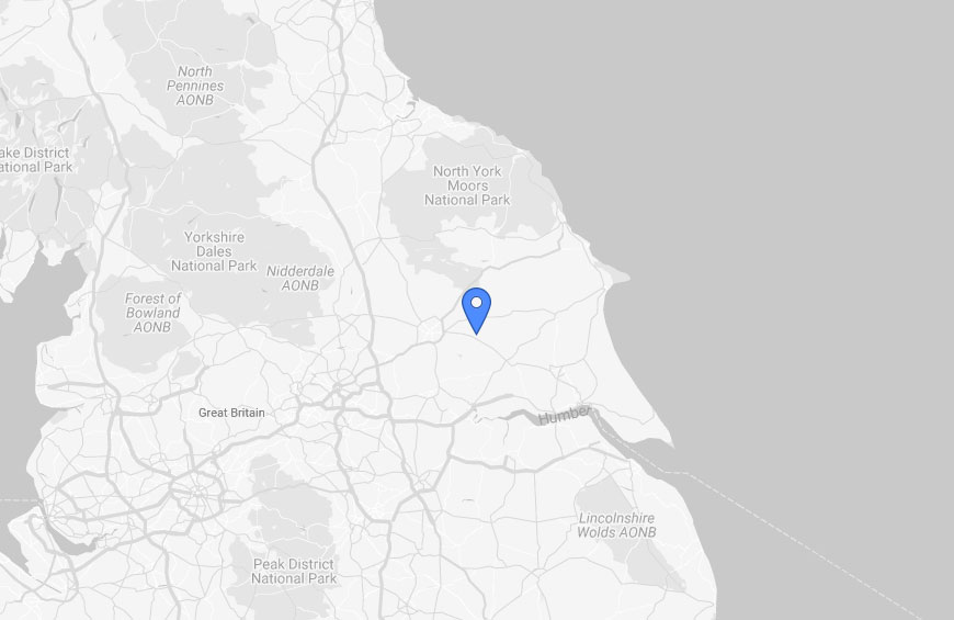 Barmby moor site location on a UK map